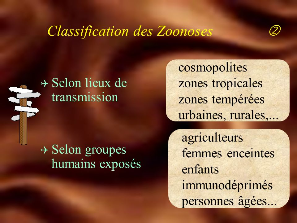 Classification des Zoonoses 