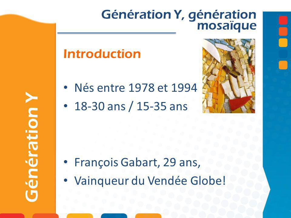 Génération Y Génération Y, génération mosaïque Introduction