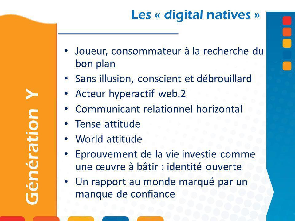 Génération Y Les « digital natives »