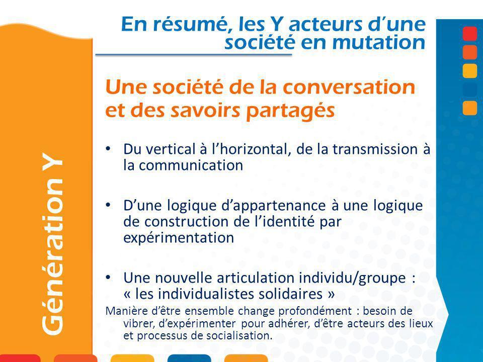 Une société de la conversation et des savoirs partagés
