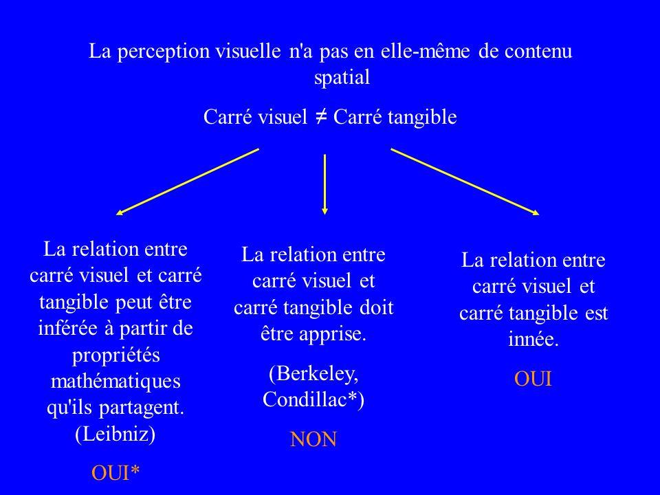 La perception visuelle n a pas en elle-même de contenu spatial