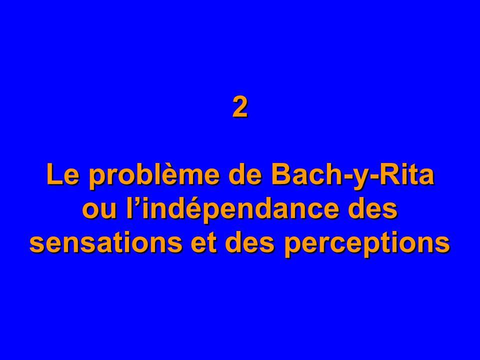 2 Le problème de Bach-y-Rita ou l'indépendance des sensations et des perceptions