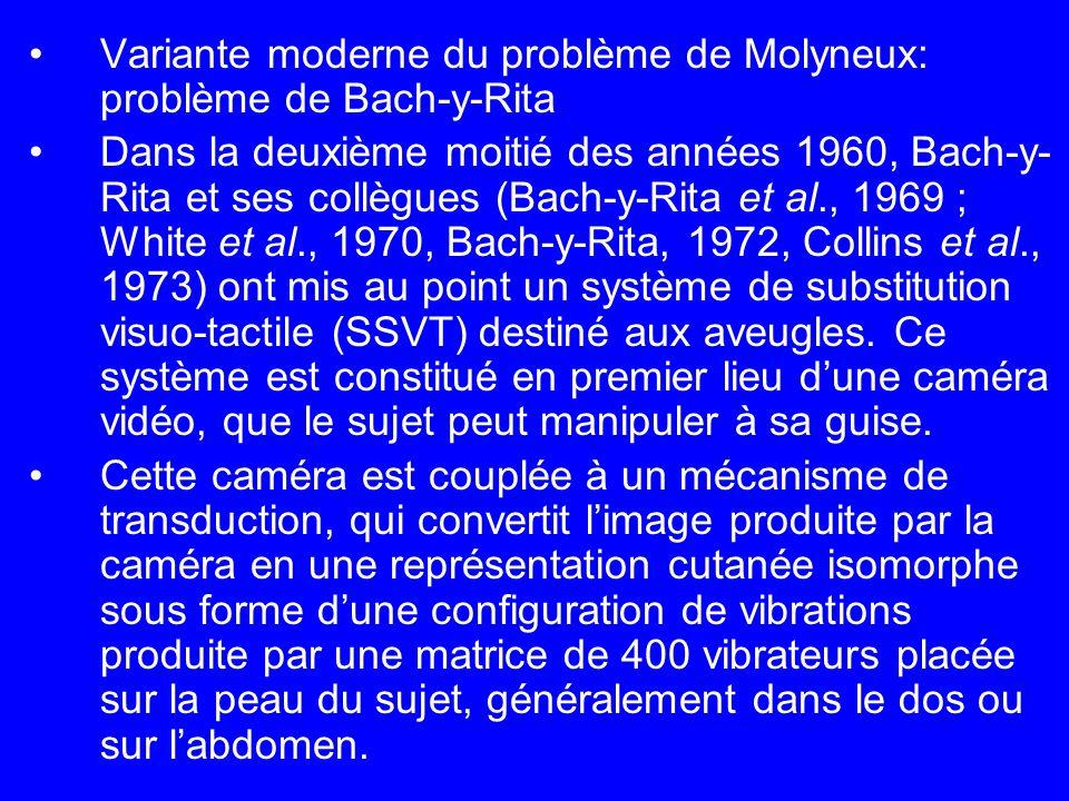 Variante moderne du problème de Molyneux: problème de Bach-y-Rita