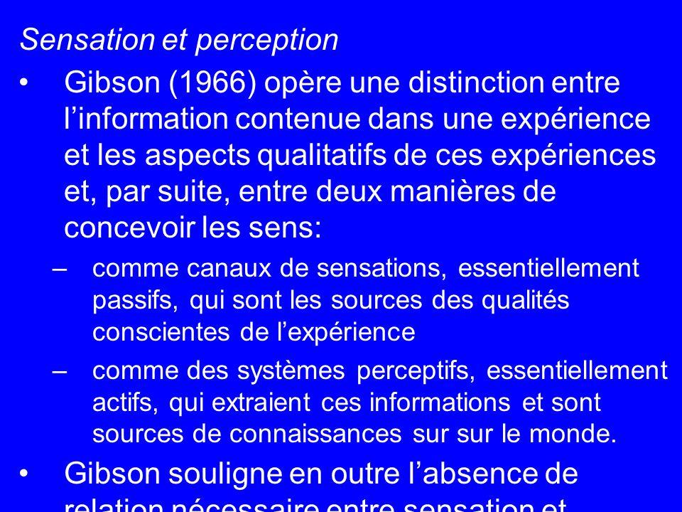 Sensation et perception