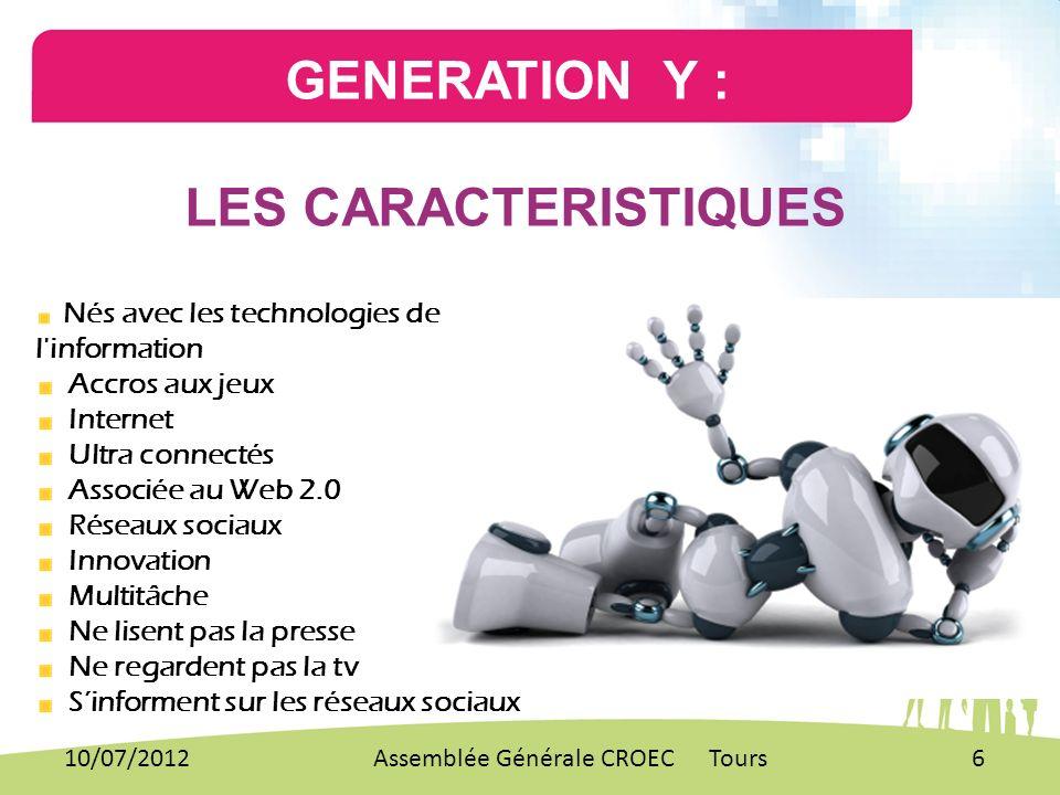 GENERATION Y : LES CARACTERISTIQUES