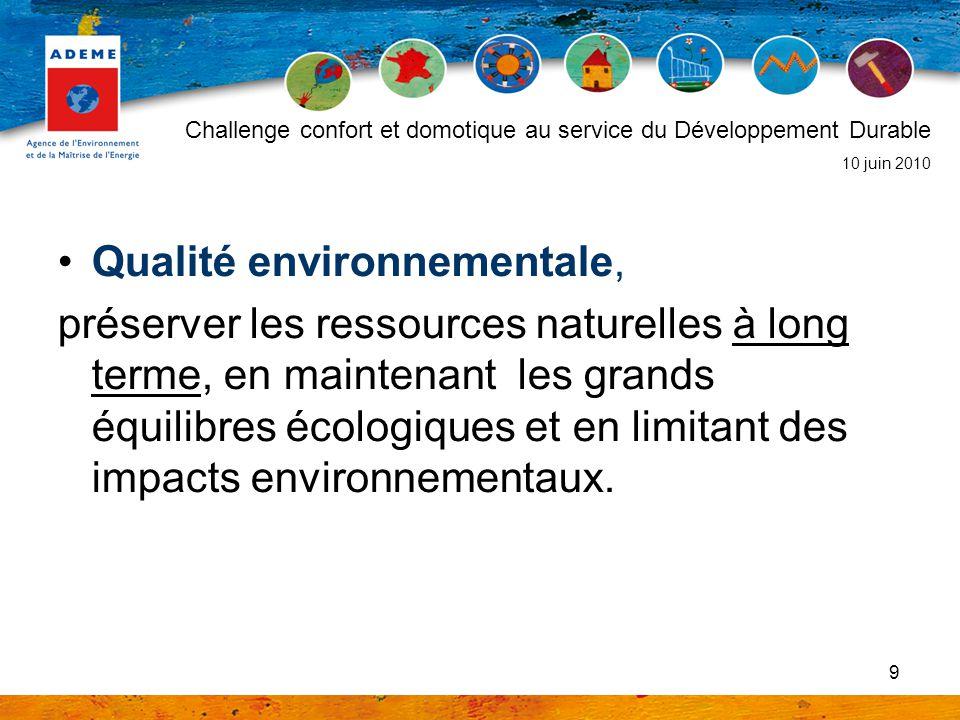 Qualité environnementale,