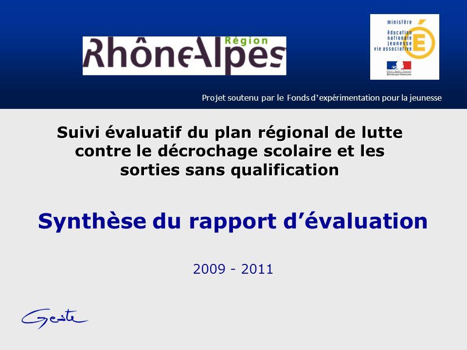 Synthèse du rapport d'évaluation 2009 - 2011