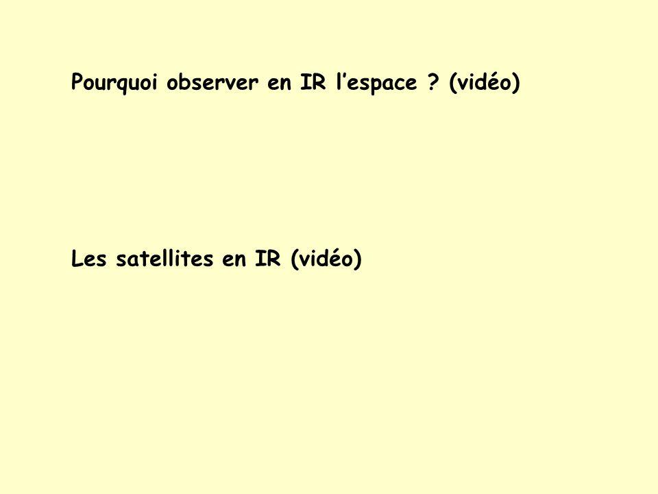 Pourquoi observer en IR l'espace (vidéo)