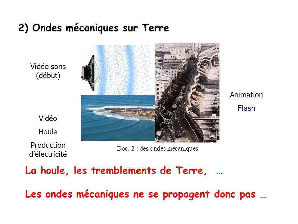 2) Ondes mécaniques sur Terre