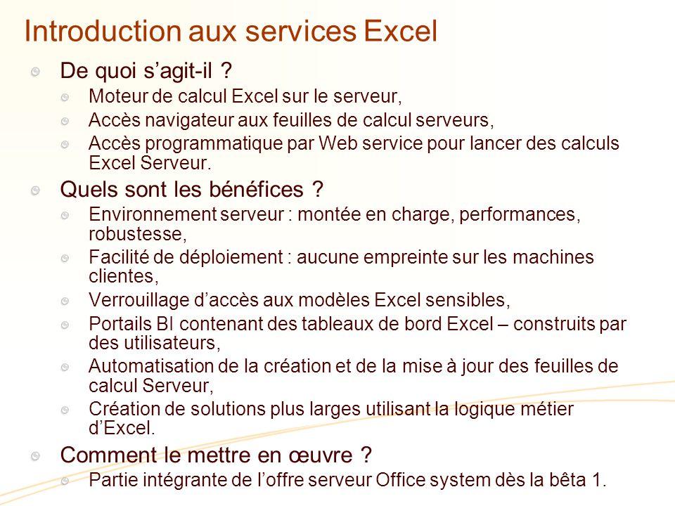 Introduction aux services Excel