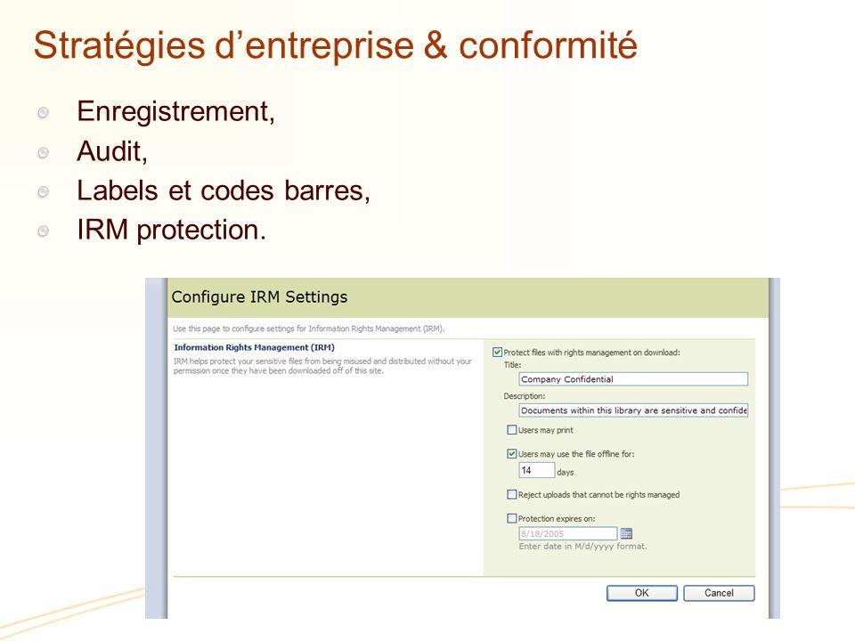 Stratégies d'entreprise & conformité