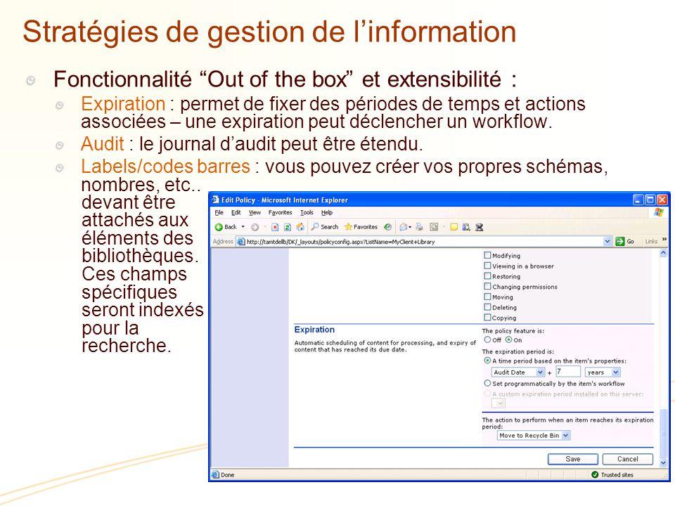 Stratégies de gestion de l'information