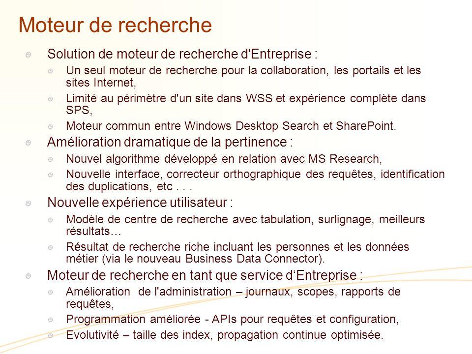 Moteur de recherche Solution de moteur de recherche d Entreprise :