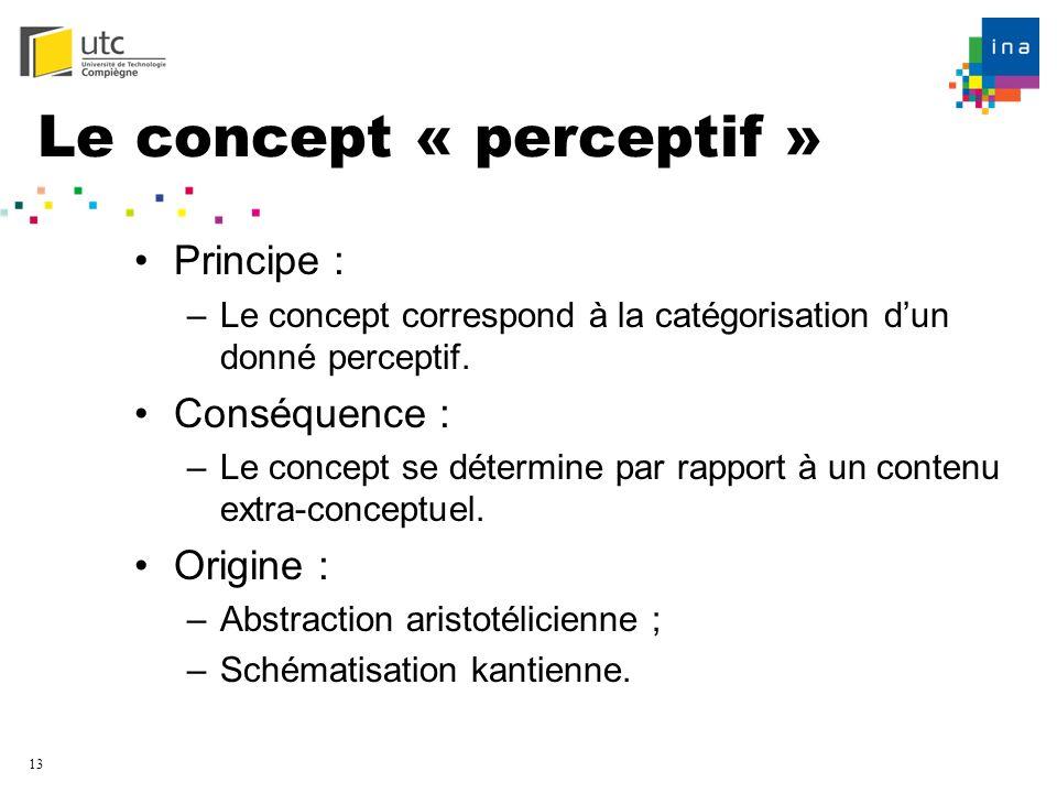 Le concept « perceptif »