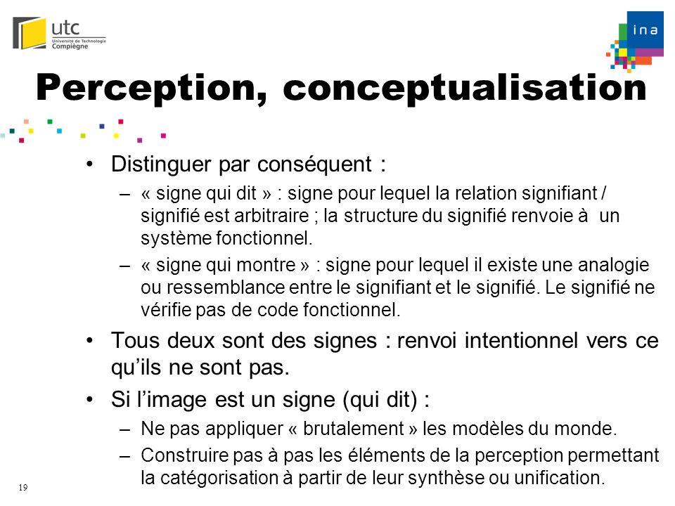 Perception, conceptualisation