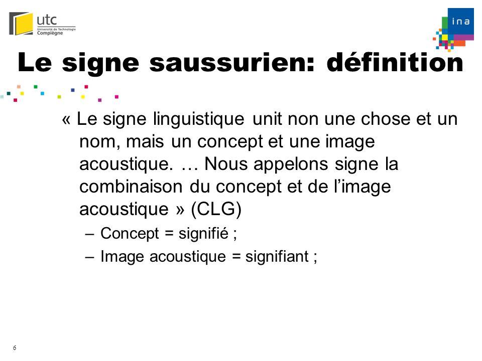 Le signe saussurien: définition