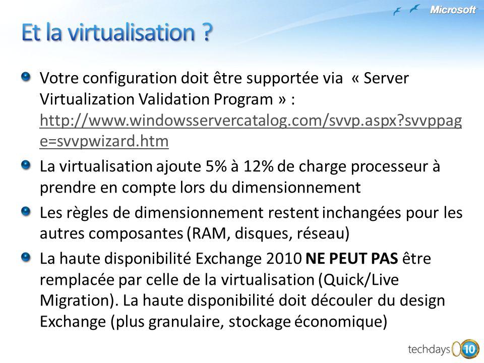 Et la virtualisation