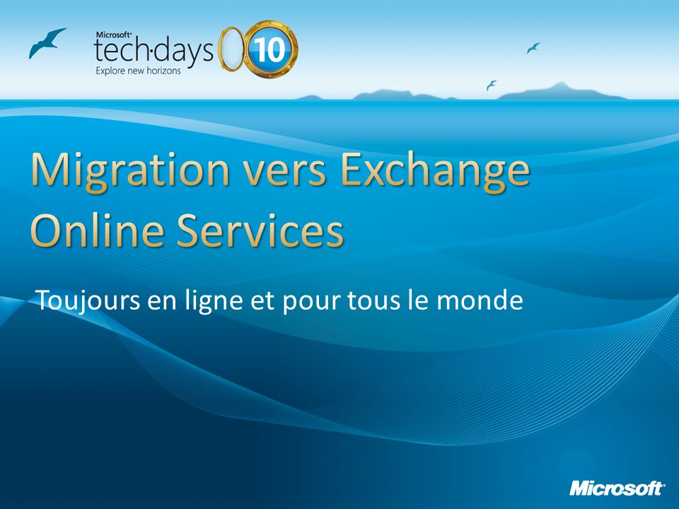 Migration vers Exchange Online Services