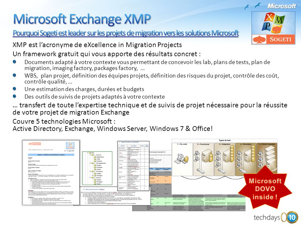 Microsoft Exchange XMP Pourquoi Sogeti est leader sur les projets de migration vers les solutions Microsoft