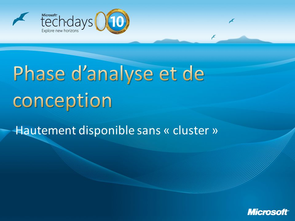Phase d'analyse et de conception