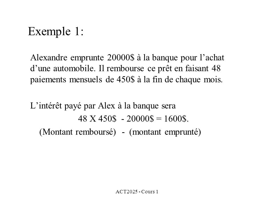 Exemple 1: