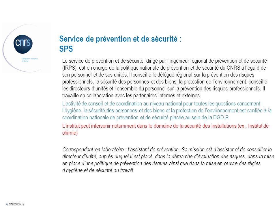 Service de prévention et de sécurité : SPS