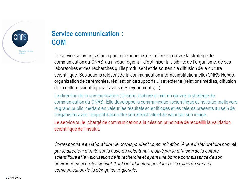 Service communication : COM