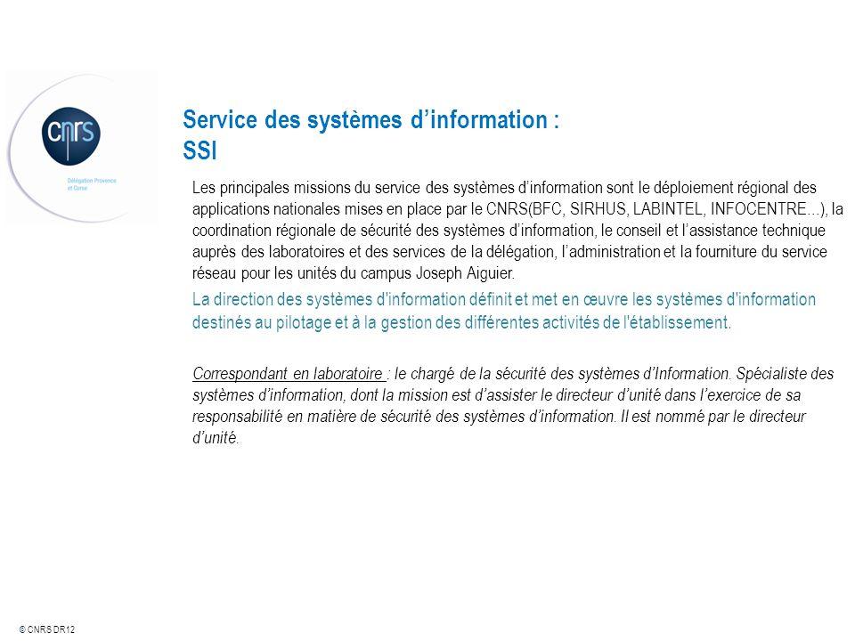 Service des systèmes d'information : SSI