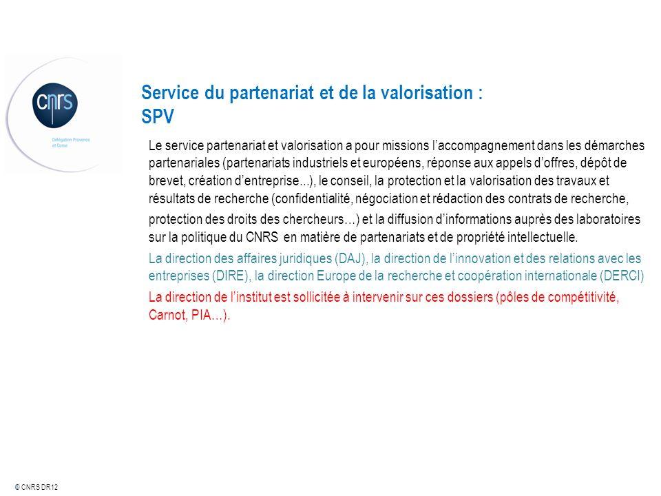 Service du partenariat et de la valorisation : SPV