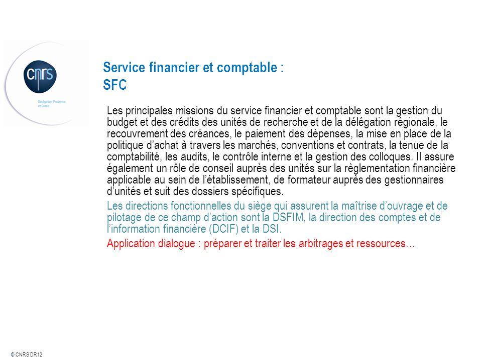 Service financier et comptable : SFC