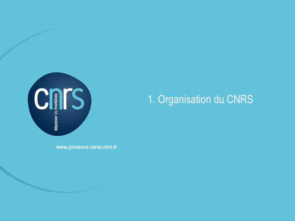 1. Organisation du CNRS 3