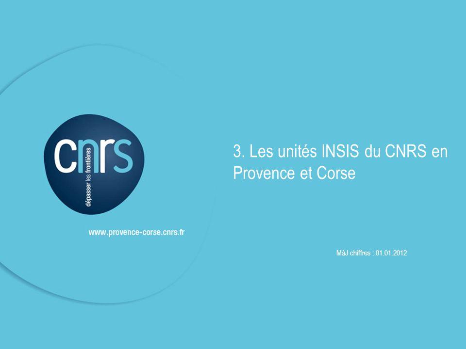 3. Les unités INSIS du CNRS en Provence et Corse
