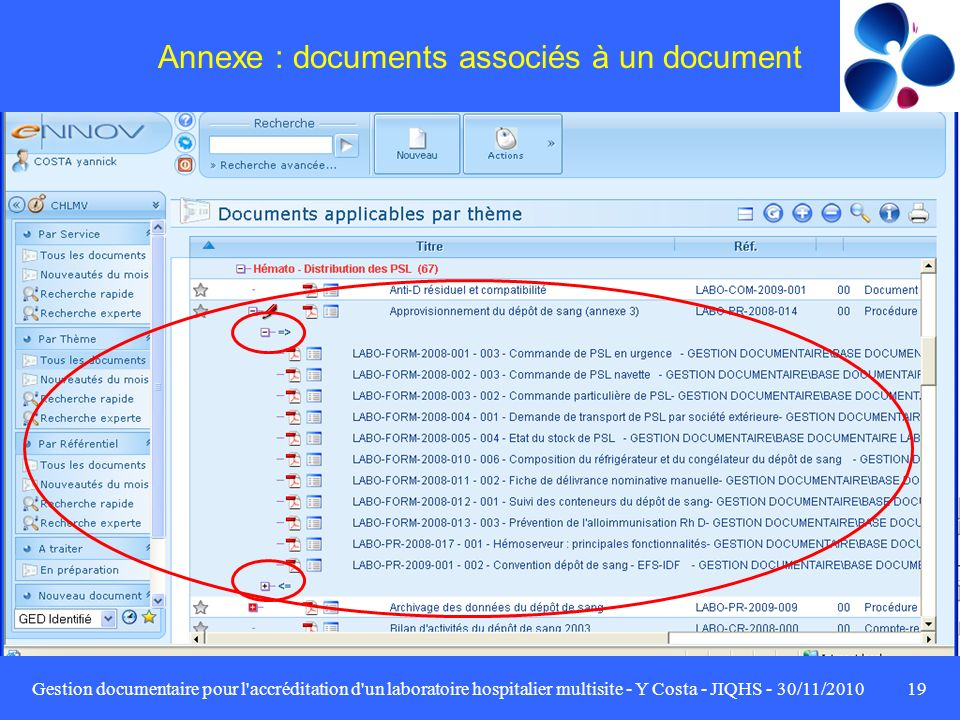 Annexe : documents associés à un document