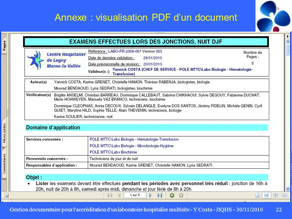 Annexe : visualisation PDF d'un document