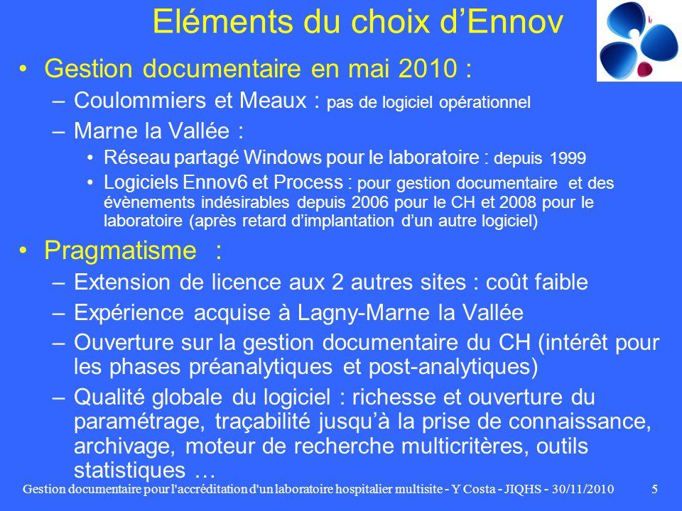 Eléments du choix d'Ennov