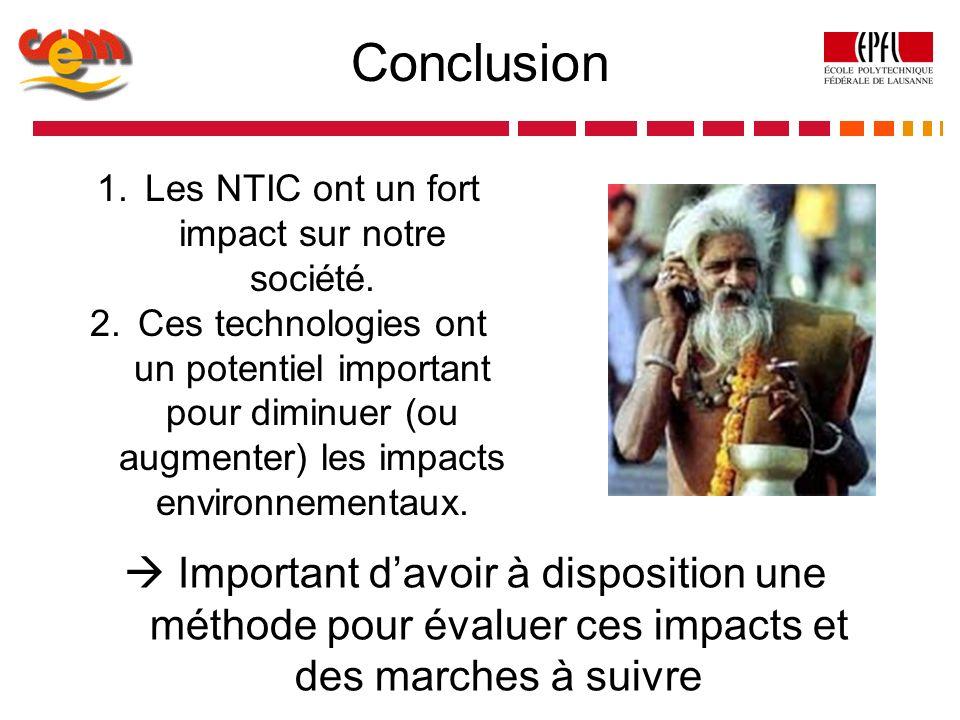 Les NTIC ont un fort impact sur notre société.