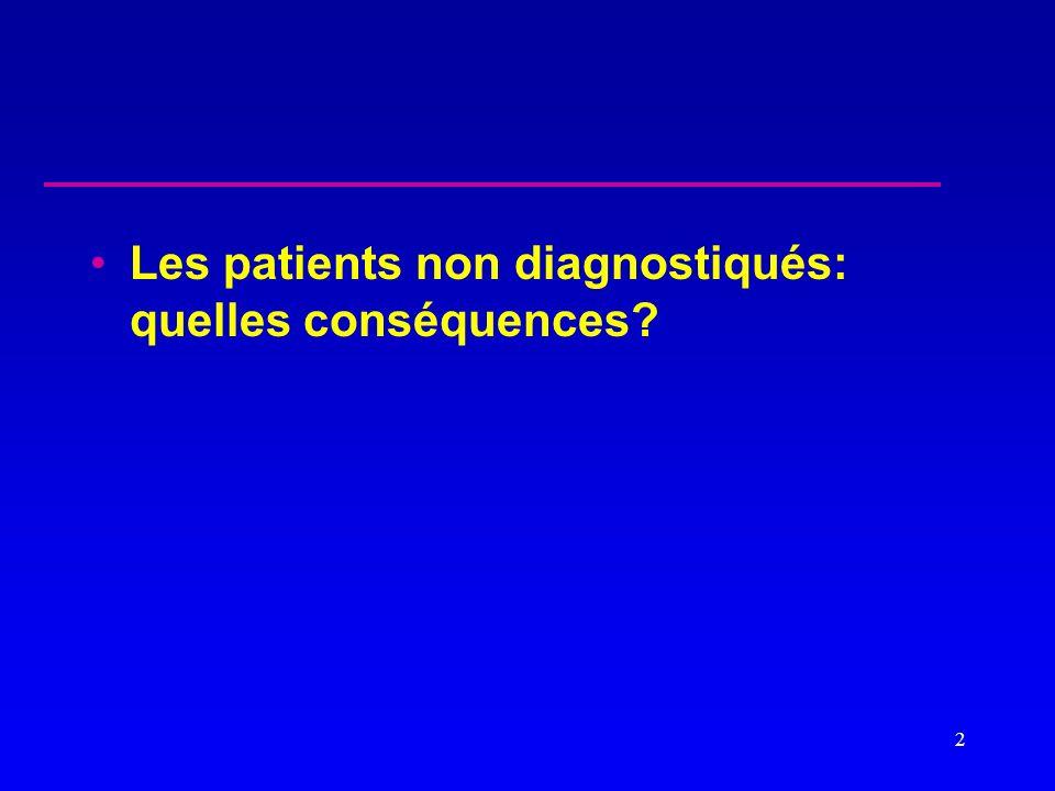 Les patients non diagnostiqués: quelles conséquences