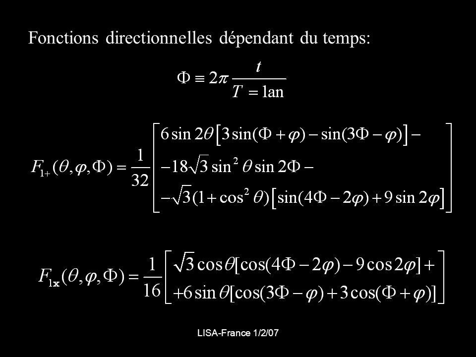 Fonctions directionnelles dépendant du temps: