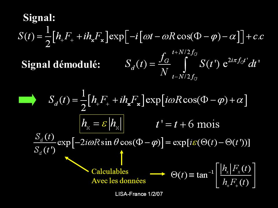 Signal: Signal démodulé: Calculables Avec les données