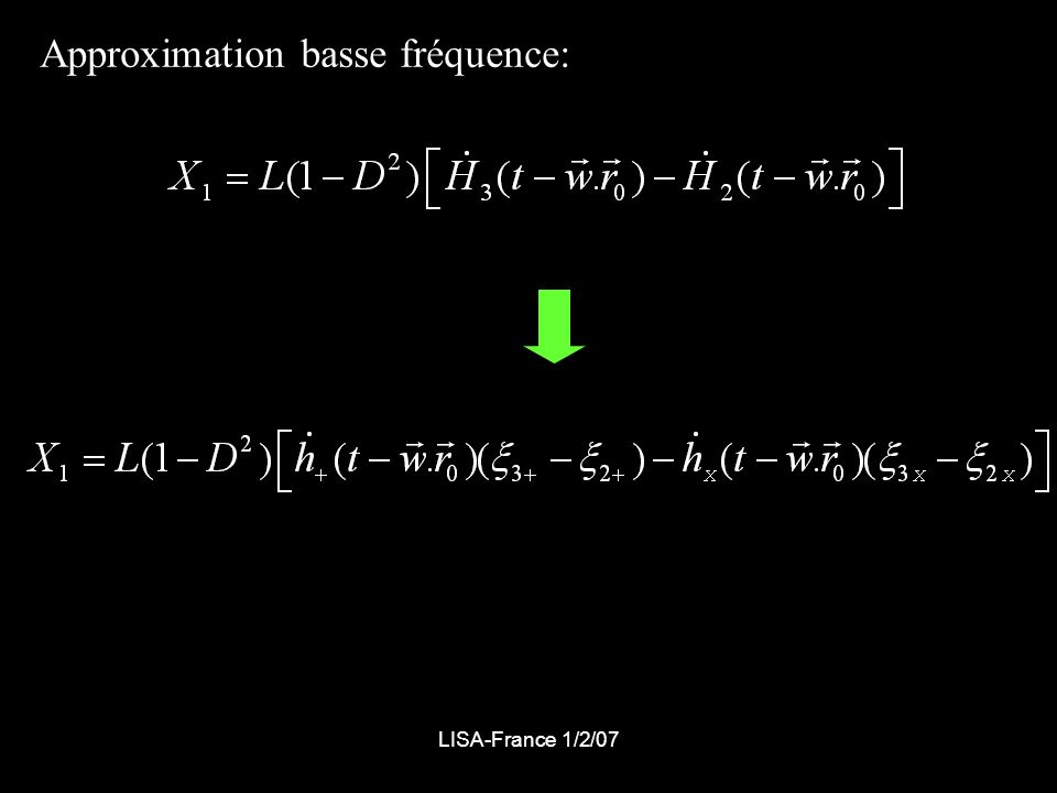 Approximation basse fréquence: