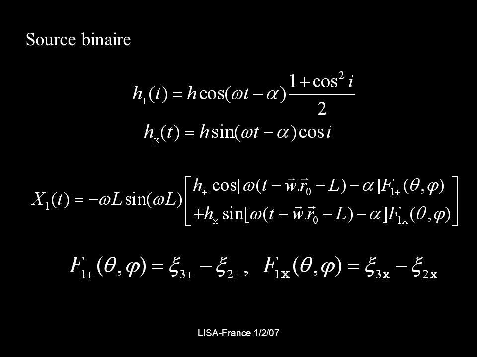 Source binaire LISA-France 1/2/07
