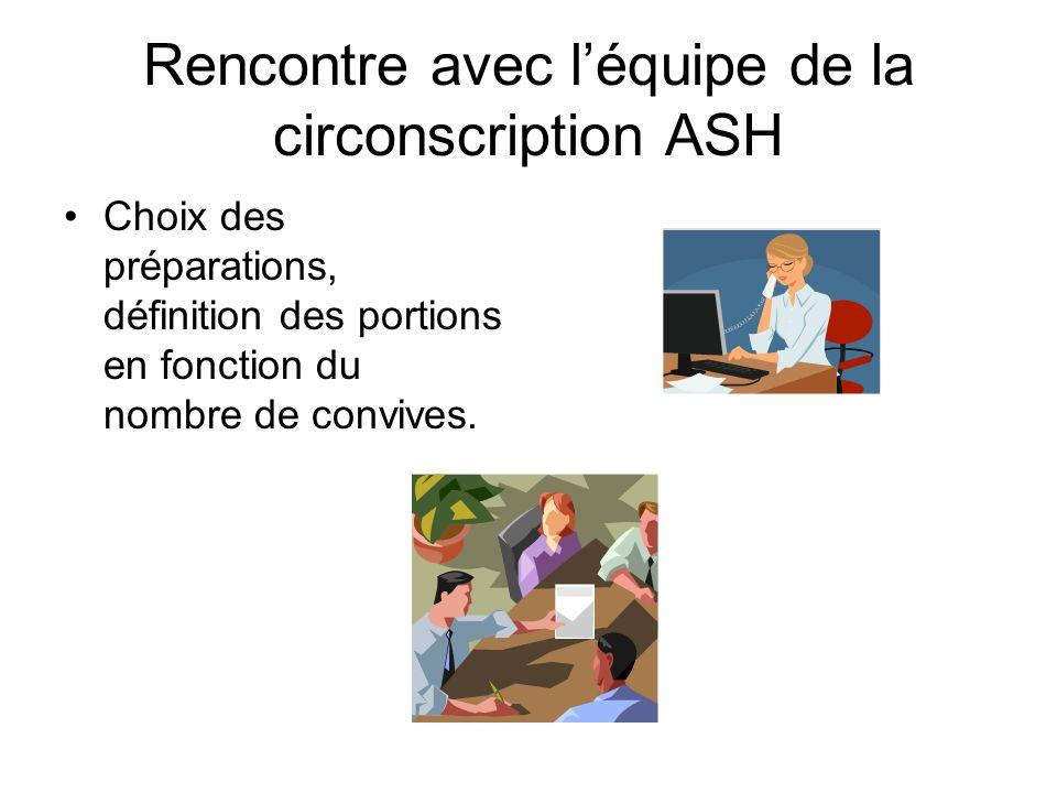 Rencontre avec l'équipe de la circonscription ASH