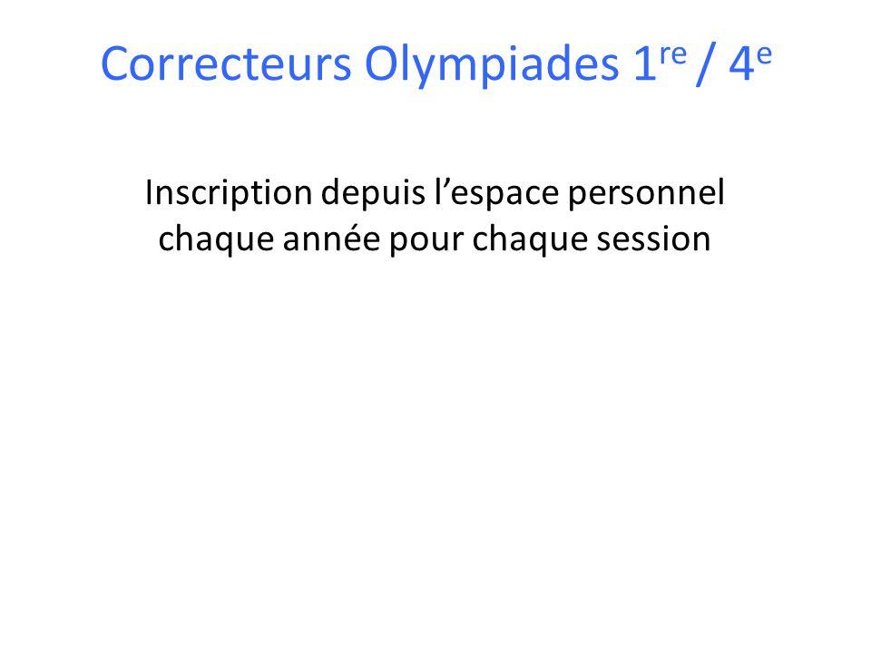 Correcteurs Olympiades 1re / 4e