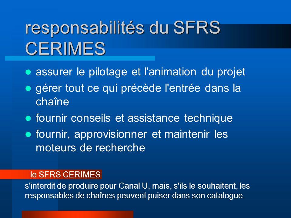 responsabilités du SFRS CERIMES