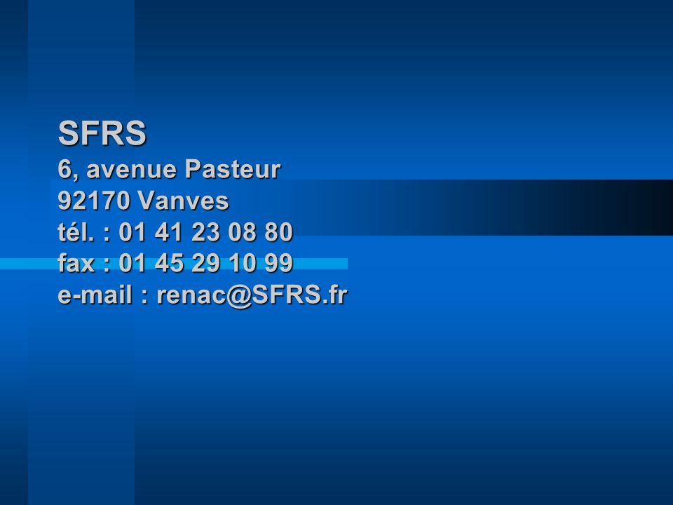 SFRS 6, avenue Pasteur 92170 Vanves tél