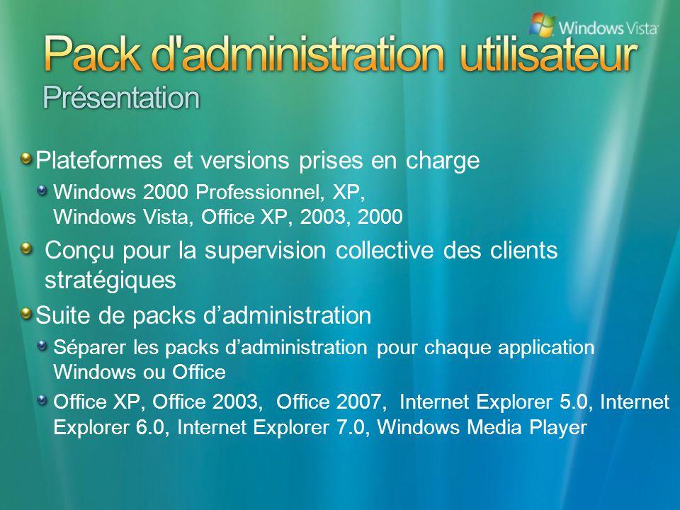 Pack d administration utilisateur Présentation