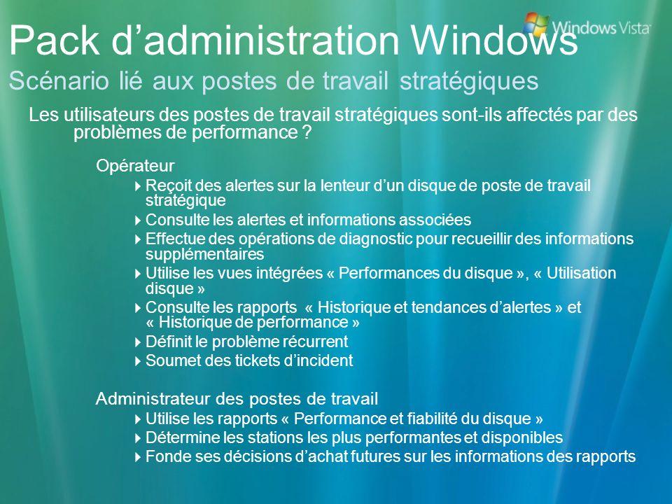 Pack d'administration Windows Scénario lié aux postes de travail stratégiques