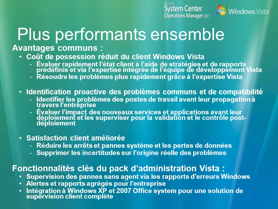 Plus performants ensemble