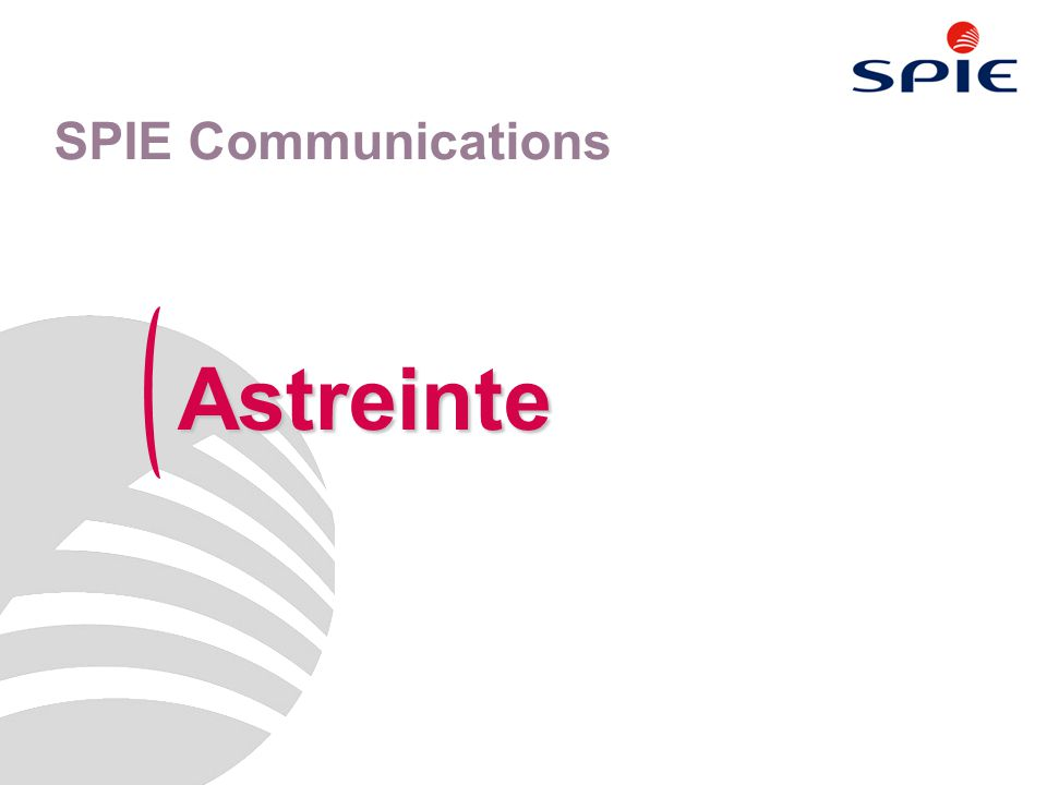SPIE Communications Astreinte