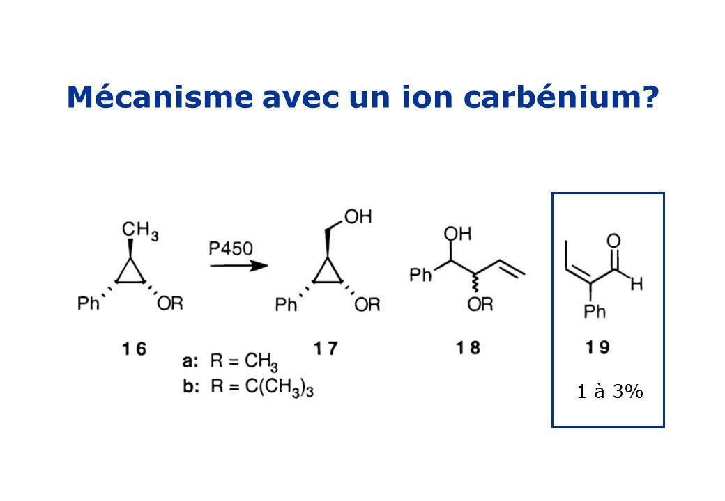 Mécanisme avec un ion carbénium